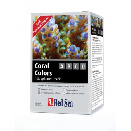 Coral Coloration A,B,C & D