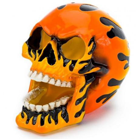 Dødninghode med Flammor-Orange