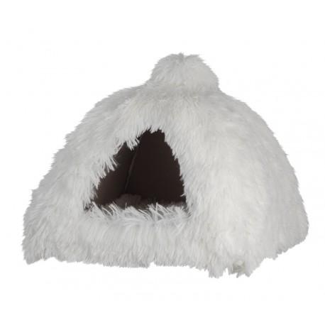 Kattigloo med lang fleecepels