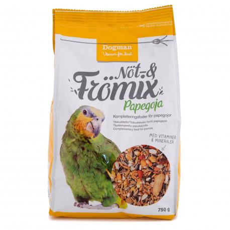 Nöt och Frömix papegoja